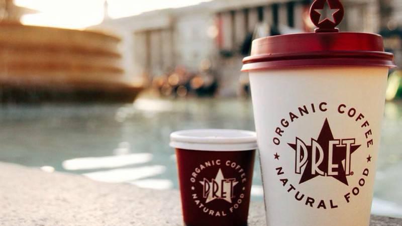Pret A Manger бесплатно раздаст более 300 тыс. чашек кофе и чая