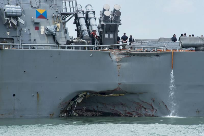 В Сингапуре рассказали о причинах инцидента с эсминцем «Джон Маккейн»