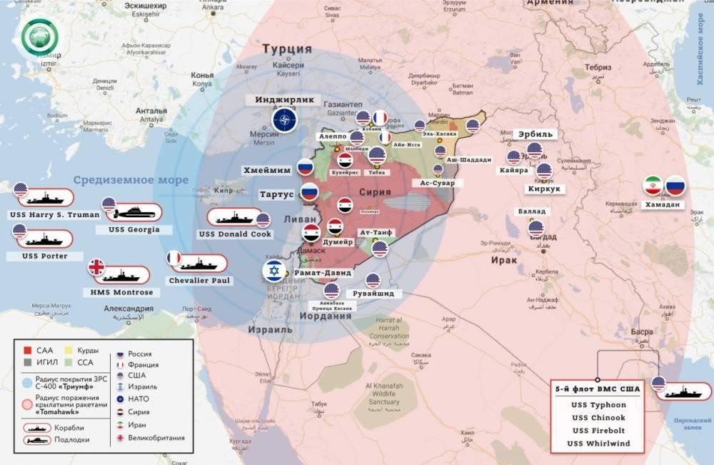 Пентагон отрицает заявления сирийских военных о сбитых «томагавках»