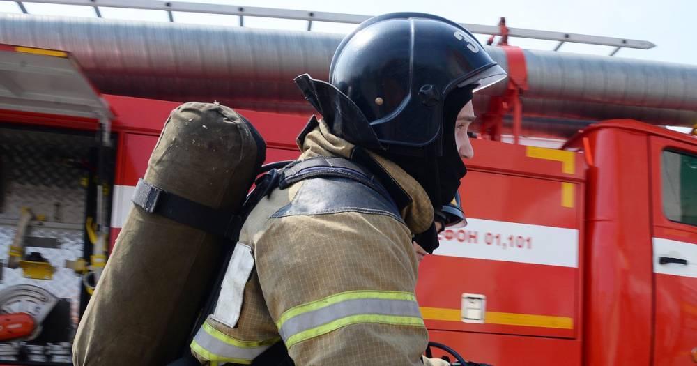 В Подмосковье произошёл пожар в магазине фейерверков – видео