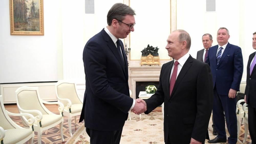 Вучич рассказал, почему Сербия не введет санкции против России