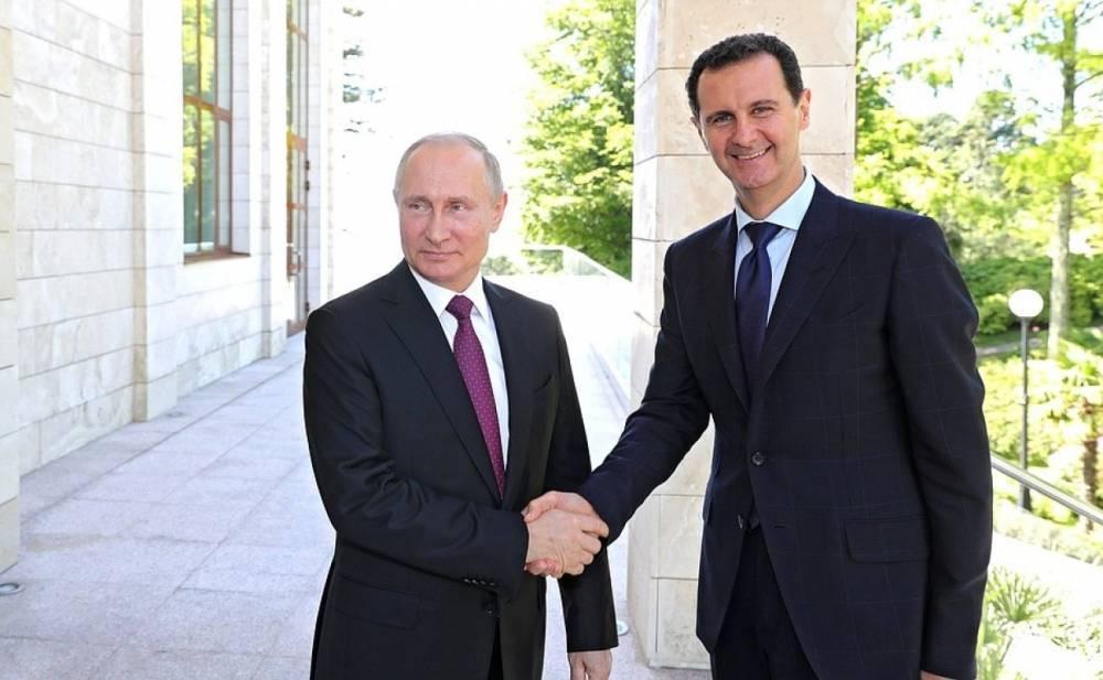 18 мая   Утро   СОБЫТИЯ ДНЯ   ФАН-ТВ   Владимир Путин встретился с Башаром Асадом в Сочи
