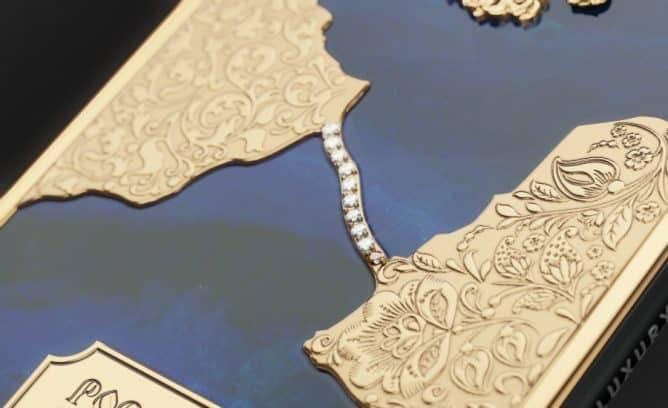 Россияне выпустили Iphone X класса люкс с изображением Крымского моста из золота и бриллиантов