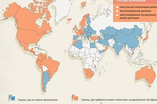 Какие страны мира признают российские дипломы? Инфографика