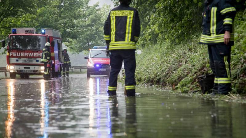 В Германии бушуют грозы. Затопленны целые районы