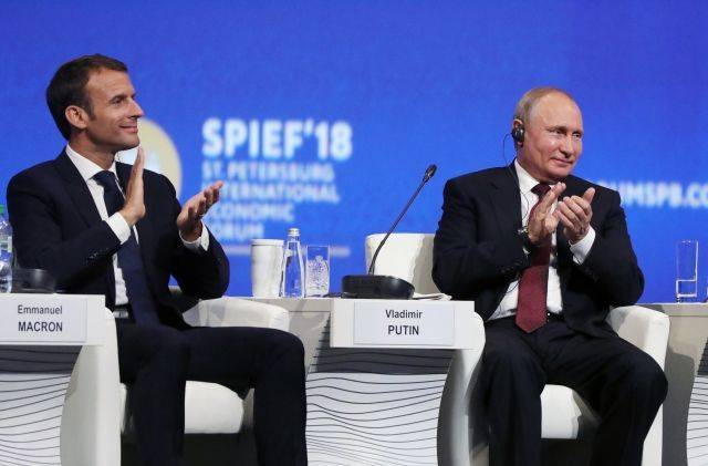 Путин считает, что Франция должна больше инвестировать в Россию