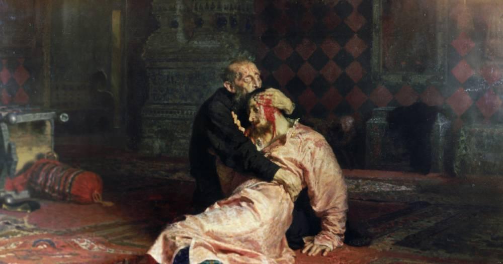 Вандал нанёс картине Репина в Третьяковке серьёзные повреждения
