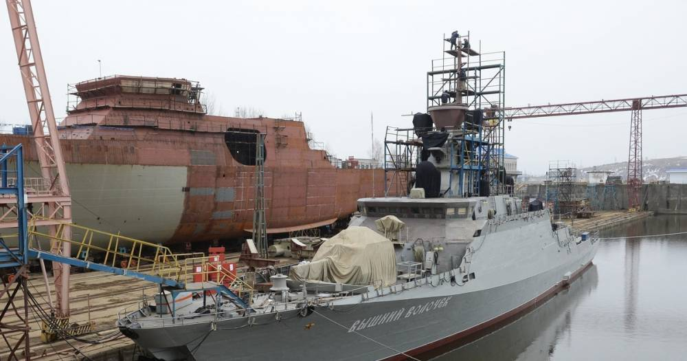 """Новейший ракетный корабль """"Вышний Волочёк"""" войдёт в состав ВМФ в мае"""