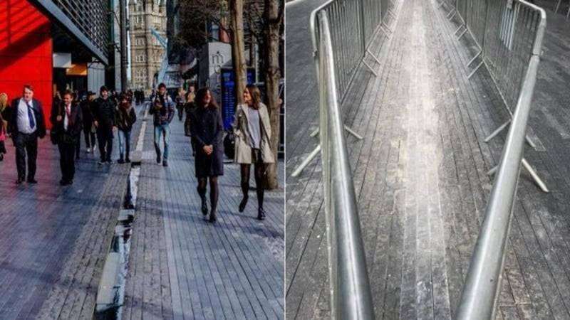 Власти Лондона убрали the Rill, так как зависимые от смартфонов лондонцы могут оступиться и упасть
