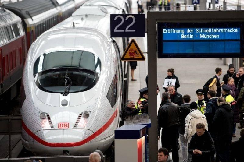 Deutsche Bahn увеличит количество поездов на маршруте Берлин-Мюнхен