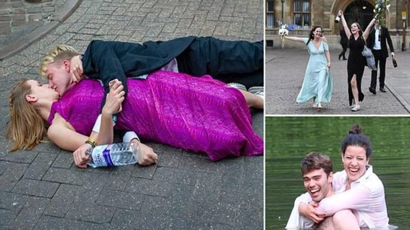 С бала студенты уходили без штанов: как празднуют сдачу экзаменов студенты Кембриджа