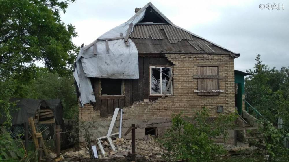 ДНР: Два дома в Горловке повреждены обстрелами ВСУ