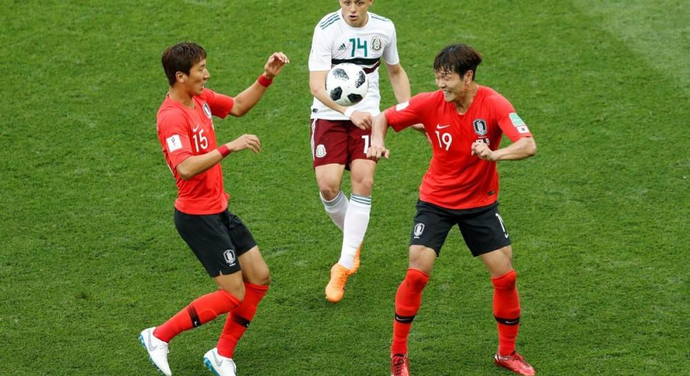 Сборная Мексики выиграла у команды Южной Кореи в матче ЧМ-2018
