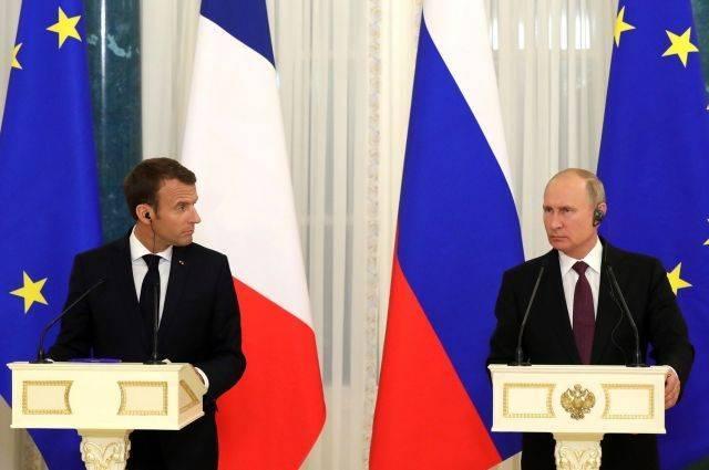 Во Франции считают момент встречи Путина и Макрона благоприятным