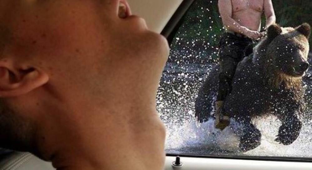 Парень уснул в авто и стал героем фотожаб