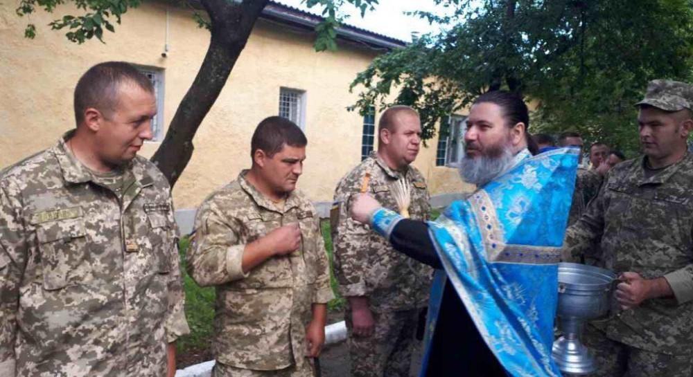 На Закарпатье благословили военнослужащих, которые отбывают на восток Украины