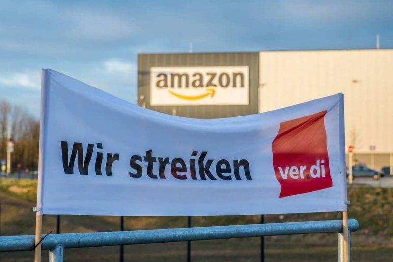 Немецкие работники Amazon начали забастовку