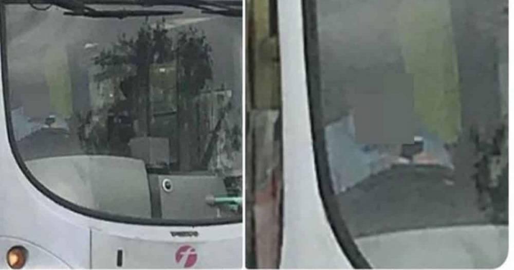 Водителя First Bus поймали на горячем, когда он болтал по телефону за рулем
