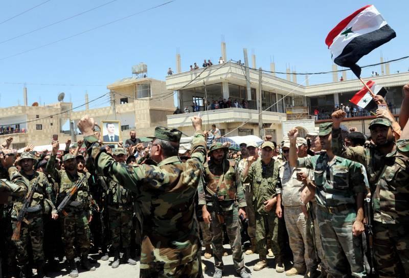 Ситуация в Сирии. В Дараа боевики сдали правительственным войскам военную технику