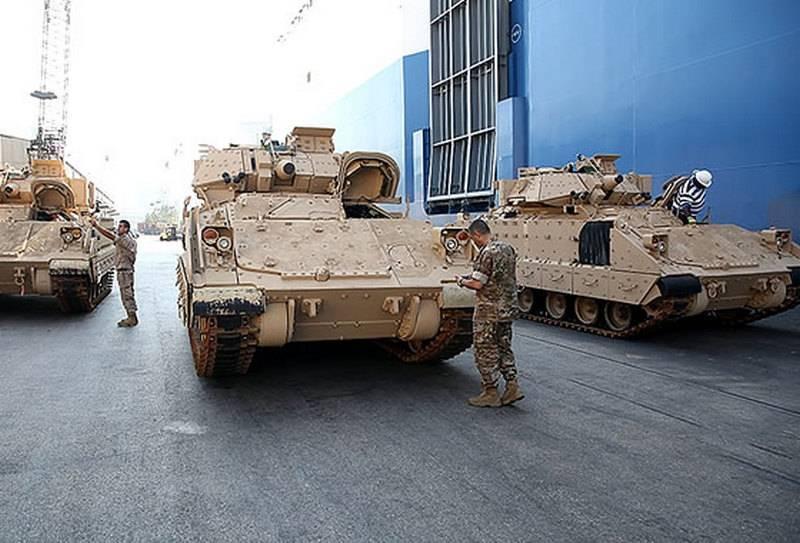 Ливан продолжает вооружаться бронетехникой из состава ВС США