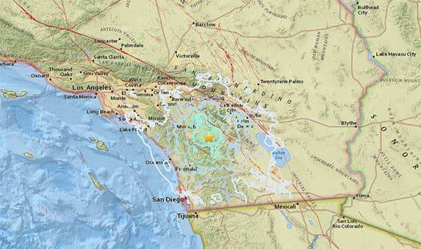 В Южной Калифорнии зарегистрировали землетрясение мощностью 4,4 балла