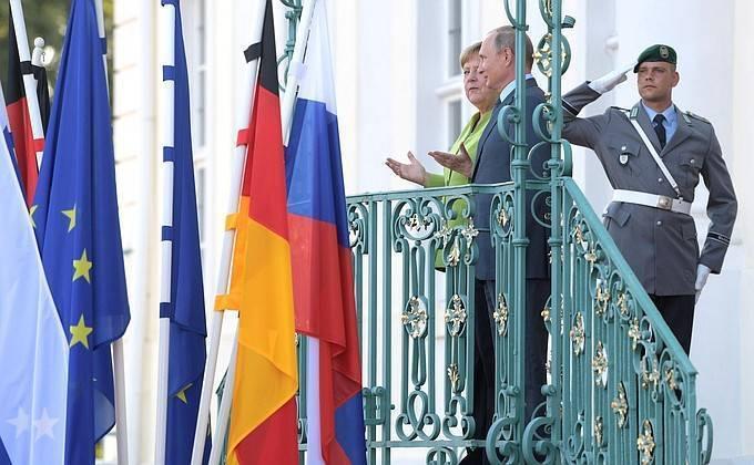 Летний вечер в Мезеберге. Переговоры Путина и Меркель состоялись