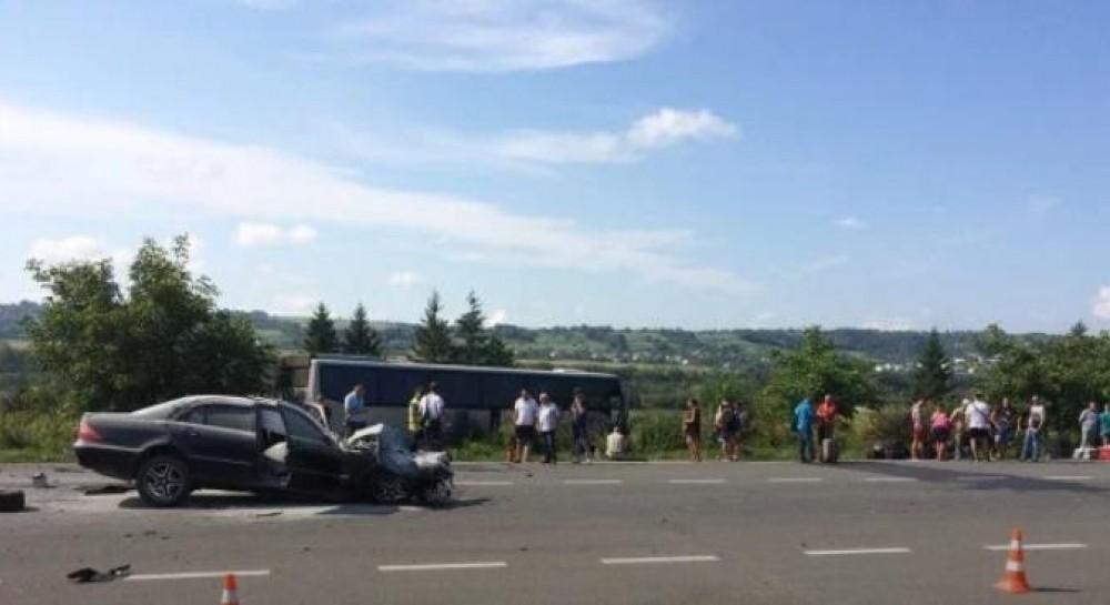 На Львовщине в ДТП попал автобус с туристами, один из водителей был пьян