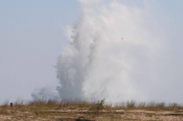 В Крыму у детского лагеря обезвредили 250-килограммовую мину