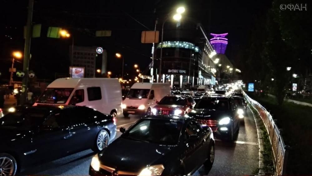 Репетиция парада в Киеве вызвала многокилометровые пробки на дорогах
