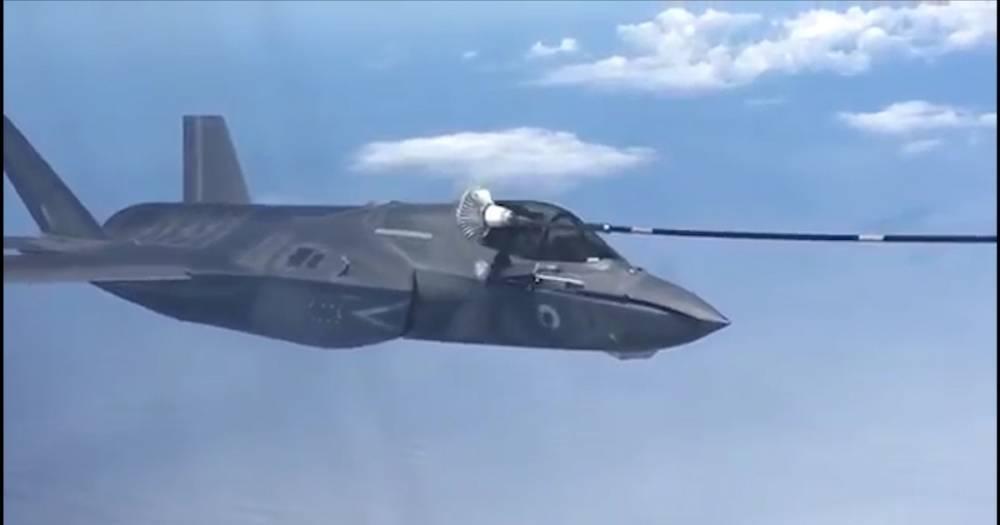 Воздушная дозаправка F-35 попала на видео