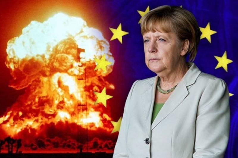 Фрау Меркель с атомной бомбой. Весь мир в труху