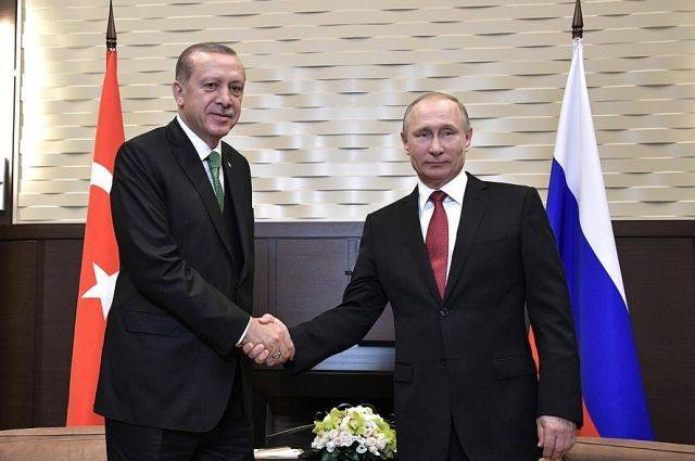 Кремль назвал темы переговоров Путина и Эрдогана в Сочи