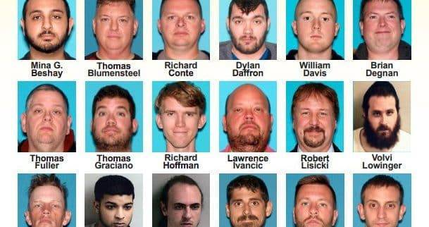 Среди 24 арестованных за совращение детей есть полицейский и пожарный