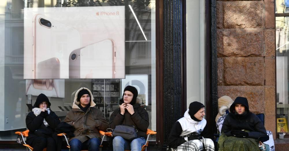 В Москве продают место в очереди за новым IPhone за 250 тысяч