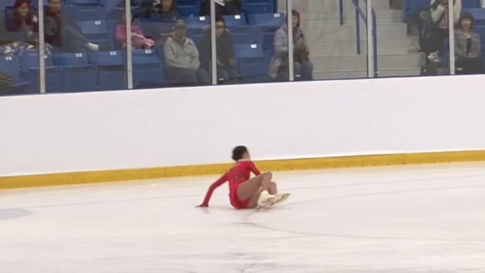 Падение Медведевой на турнире в Канаде попало на видео