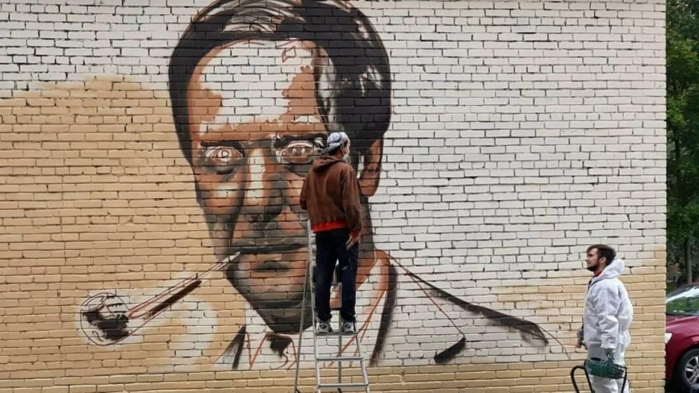 Граффити с портретом физика Капицы появилось в Петербурге