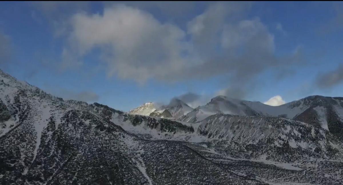 Горы Словакии неожиданно засыпало снегом
