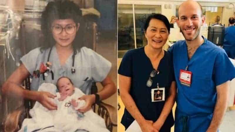 Медсестра узнала, что ее коллега – преждевременный ребенок, которого она выходила 28 лет назад