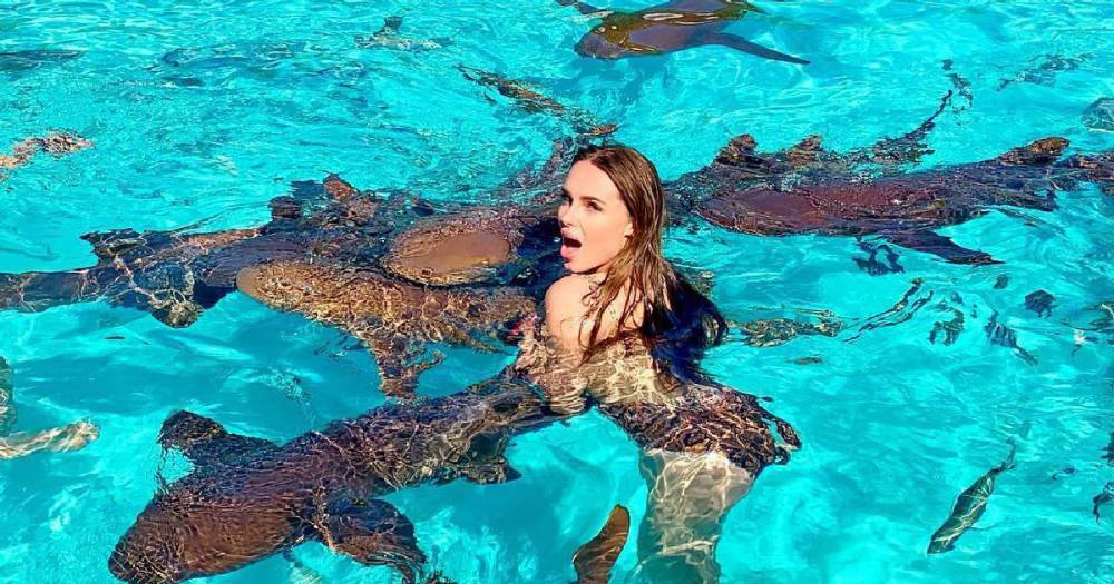 Певицу Ханну укусила акула на Багамах