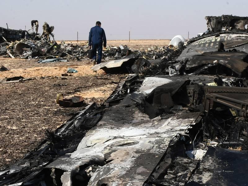 Фото разбитого самолета мае египтом