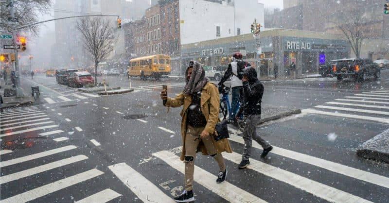 В Нью-Йорке на завтра объявлена снежная тревога
