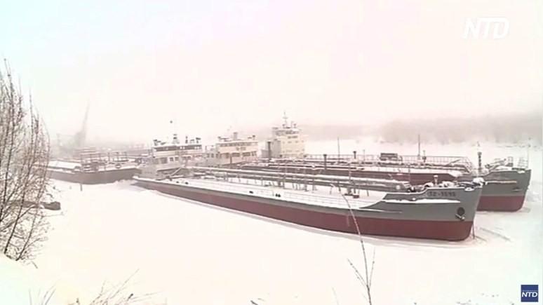 NTD: судоремонтники в Сибири рады морозам, которые помогают работе