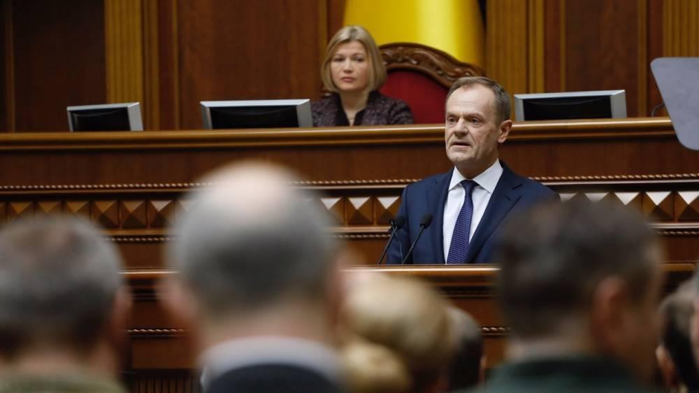 Туск призвал страны ЕС поучиться у Украины быть Европой