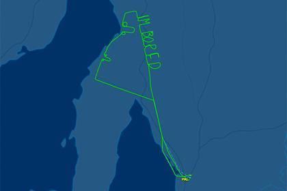 Австралийский пилот заскучал инарисовал ввоздухе пенисы