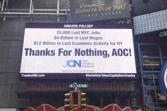 Консерваторы обвиняют Александрию Окасио-Кортес в уходе Amazon из Нью-Йорка