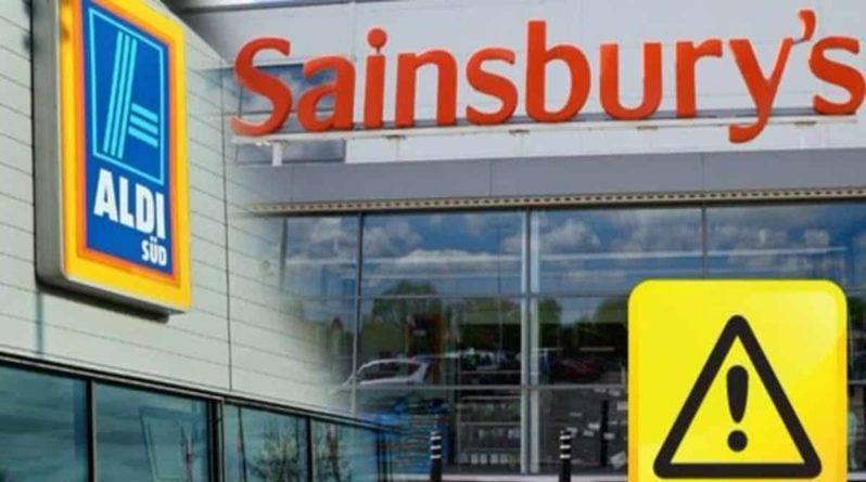 Sainsbury's и Aldi отзывают ряд товаров из-за собственной оплошности
