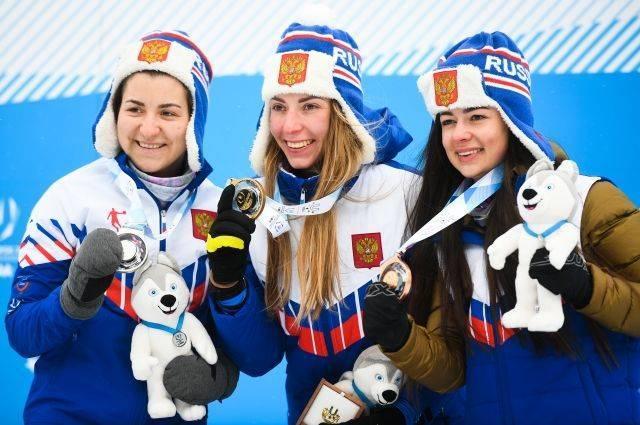 Российская биатлонистка Мошкова взяла третье золото Универсиады
