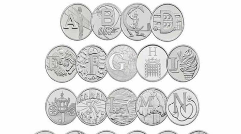 Охота на монеты: в Великобритании появились дополнительные десятипенсовые монеты с буквами алфавита от A до Z