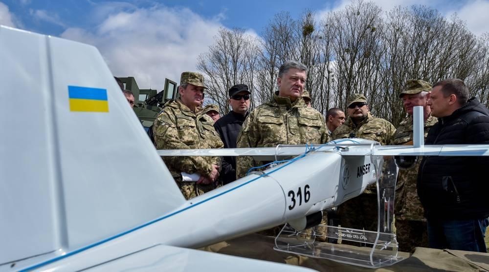 В ЛНР сбит беспилотник Порошенко