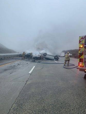 На шоссе в Калифорнии произошли крупные аварии с участием около 50 машин